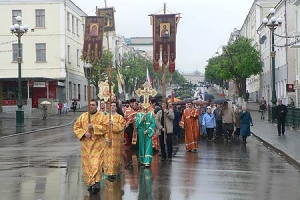 Сотни орловцев почтили память святого Георгия Победоносца