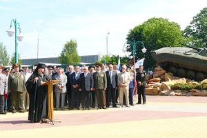 Архиепископ Пантелеимон принял участие в церемонии открытия памятника участникам военных конфликтов и локальных войн