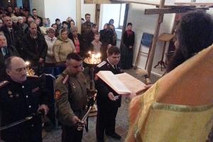 Во Мценске состоялось освящение боевого казачьего оружия