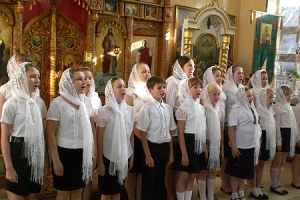 В воскресной школе при Свято-Сергиевском кафедральном соборе г. Ливны состоялся выпускной вечер