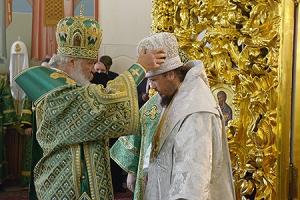 Слово Святейшего Патриарха Кирилла при вручении архиерейского жезла Преосвященному Нектарию (Селезневу), епископу Ливенскому и М