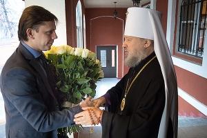 Врио губернатора Орловской области поздравил митрополита Антония с днем рождения