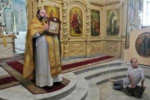 Богоявленскому собору подарена икона преподобного Онуфрия Великого из Свято-Онуфриевского храма города Анапы