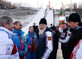 Святейший Патриарх Кирилл встретился с волонтерами, направленными Русской Православной Церковью на Олимпиаду в Сочи
