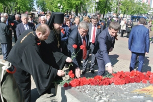 Духовенство Орловской епархии приняло участие в мероприятиях, посвященных 69-й годовщине Победы в Великой Отечественной войне