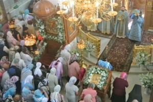 Казанский храм Успенского мужского монастыря города Орла отметил престольный праздник