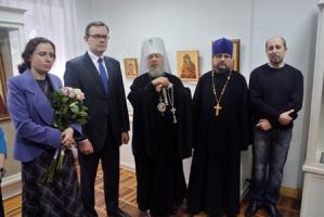 Владыка Антоний принял участие в открытии выставки работ  художников – реставраторов  в Областном краеведческом музее