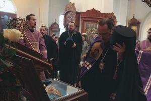 В Орёл прибыл ковчег с частицей Ризы Пресвятой Богородицы