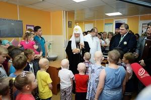 Святейший Патриарх Кирилл посетил Научно-клинический многопрофильный центр медиц