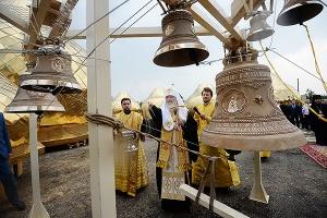 Предстоятель Русской Церкви побывал на месте строительства православного комплек