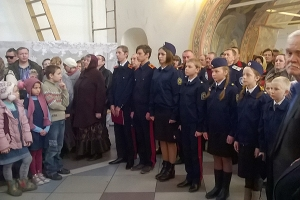 Учащиеся Фатневской школы Болховского района приняли присягу на верность казачьи