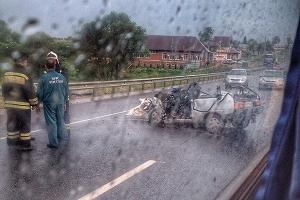 В автомобильной аварии под Орлом пострадали клирики Сумской епархии