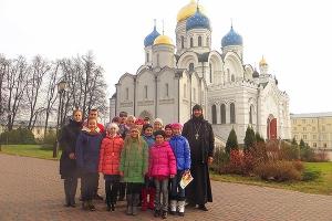 Воспитанники мценской воскресной школы посетили Николо-Угрешский монастырь