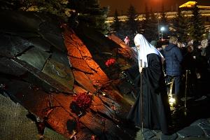 Святейший Патриарх Кирилл принял участие в церемонии открытия мемориала памяти ж
