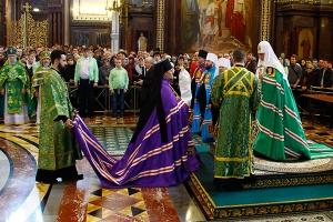 В праздник Входа Господня в Иерусалим Предстоятель Русской Церкви совершил Литу