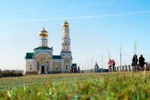 Освящение храма во имя святого благоверного князя Александра Невского в с. Больш