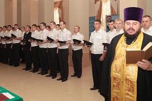Священник благословил сотрудников УМВД по Орловской области на несение службы