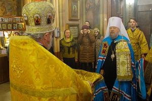 Архиерейская литургия в Свято-Иоанно-Крестительском храме Орла в Неделю 25-ю по