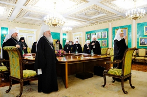 Первое в 2018 году заседание Священного Синода РПЦ прошло в Москве
