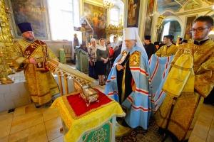 Митрополит Антоний возглавил торжественную встречу мощей свт. Спиридона Тримифунтского в Ахтырском соборе