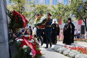 Архипастыри и духовенство митрополии посетили митинг Памяти в честь 75-летия освобождения Орловской области от немецко-фашистских захватчиков