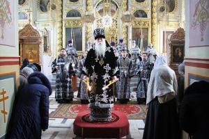 В Ахтырском соборе совершена первая в 2019 году литургия Преждеосвященных Даров