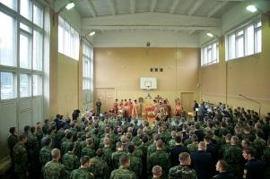 В праздник Усекновения главы Иоанна Предтечи архиепископ Пантелеимон совершил литургию на территории Академии ФСО России