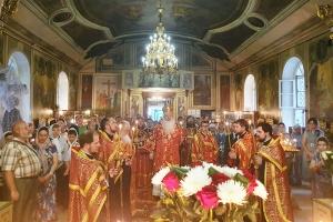 В канун Усекновение главы Крестителя Господня Иоанна митрополит Тихон совершил богослужение в Иоанно-Крестительском храме