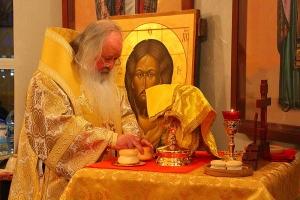 Владыка Тихон совершил Божественную литургию в Михаило-Архангельском храме села Сабурово