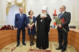 Владыка Тихон поздравил коллектив ГТРК «Орёл» с днем рождения Орловского телевидения