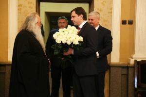 Андрей Клычков поздравил митрополита Орловского и Болховского Тихона с Рождеством Христовым