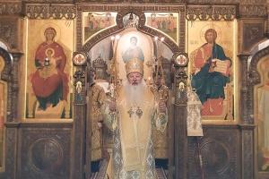 В первый день 2020 года митрополит Тихон совершил литургию в Свято-Успенском монастыре