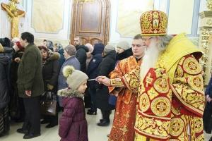 Накануне дня памяти святой мученицы Татианы Владыка Тихон возглавил всенощное бдение в Смоленском храме Орла