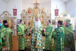 В праздник Входа Господня в Иерусалим Владыка Тихон совершил Литургию в Тросне