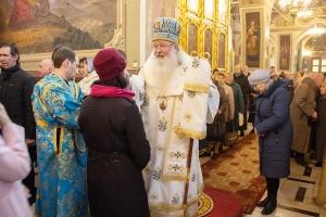 В канун праздника Благовещения Архипастырь возглавил всенощное бдение в Ахтырском соборе