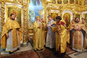 За литургией в Богоявленском соборе состоялась хиротония выпускника Орловской православной гимназии