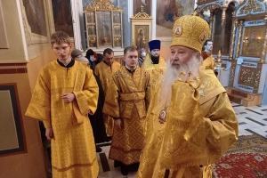 Митрополит Тихон возглавил всенощное бдение в канун Недели 29-й по Пятидесятнице