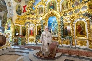 В канун праздника Крещения Господня Архипастырь возглавил всенощное бдение в Богоявленском соборе