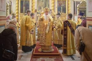 Архипастырь совершил Чин Торжества Православия в Ахтырском соборе