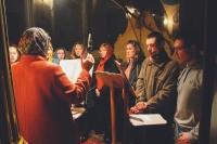 Ночная молодежная литургия состоялась в Богоявленском соборе Орла 13 апреля 2019 г.