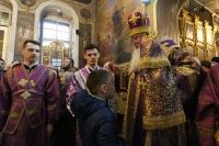 Архиепископ Орловский и Болховский Тихон возглавил всенощное бдение в Ахтырском кафедральном соборе Орла. 13 апреля 2019 г.