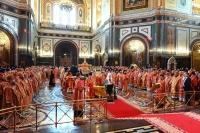 Архипастыри Орловской митрополии участвовали в праздновании памяти святых Мефодия и Кирилла и тезоименитства Святейшего Патриарха Кирилла в Москве. 24 мая 2019 г.