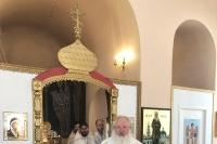В день памяти святителя Луки Крымского митрополит Орловский и Болховский Тихон возглавил Божественную литургию в храме святителя Луки Крымского в Областной клинической больнице. 11 июня 2019 г.