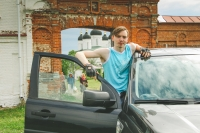 Волонтеры «Богоявленской семьи» помогли воспитанникам Болховского интерната для детей сфизическими недостатками  посетить Троицкий Оптин монастырь. 7 июля 2019 г.