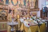 В праздника Сретения Владимирской иконы Пресвятой Богородицы митрополит Орловский и Болховский Тихон совершил всенощное бдение в храме гимназии во имя священномученика Кукши. 7 сентября 2019 г.