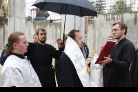 Закладной камень в основание Троицкого кафедрального собора города Ливны освятил 27 сентября 2019 г. епископ Ливенский и Малоархангельский Нектарий