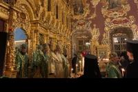 Митрополит Орловский и Болховский Тихон принял участие в торжествах в Троице-Сергиевой Лавре в день преставления преподобного Сергия Радонежского. 7 октября 2019 г.
