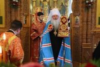 Во Вторник Светлой седмицы митрополит Орловский и Болховский Тихон совершил Литургию в храме Иверской иконы Божией Матери города Орла. 21 апреля 2020 г.