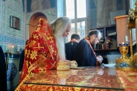В канун пятницы Светлой седмицы митрополит Орловский и Болховский Тихон совершил Пасхальное вечернее богослужение в Свято-Успенском мужском монастыре Орла. 23 апреля 2020 г.