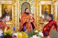 В Неделю 3-ю по Пасхе митрополит Орловский и Болховский Тихон совершил литургию в Богоявленском соборе Орла. 3 мая 2020 г.